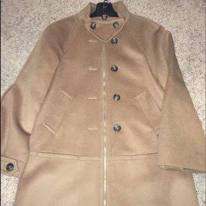 🌺 NWT BCBG Maxazria XS Tan Coat with zipper